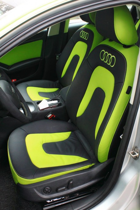 Audi A4L is shiny lime green in China