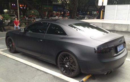 Audi A5 Coupe is matte black in China