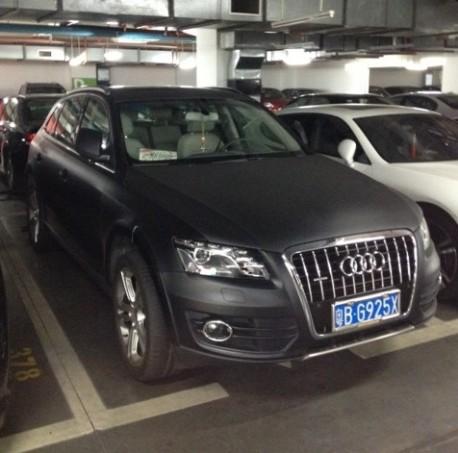 Audi Q5 is matte black in China