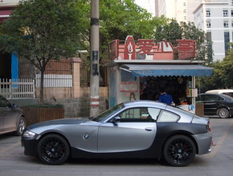 BMW Z4 is grey & matte black in China