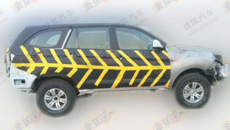 Spy shots: Foton working on a big SUV in China