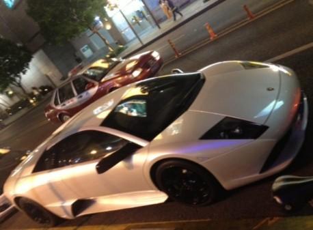 Lamborghini Murcielago & a Ferrari FF in Shenzhen, China