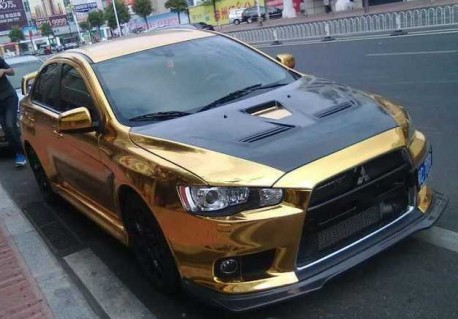 Mitsubishi Lancer EVO X is Gold in China