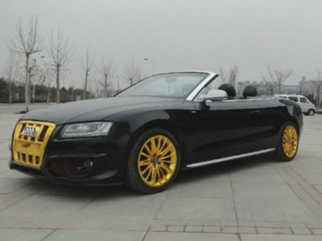 Audi S5 Cabriolet has a Golden Grille in China