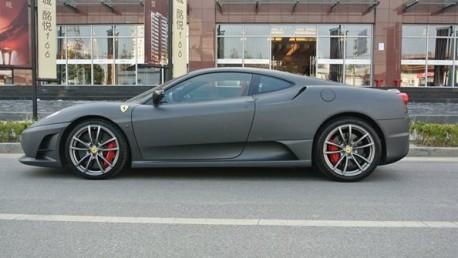Ferrari F430 Scuderia is matte black in China