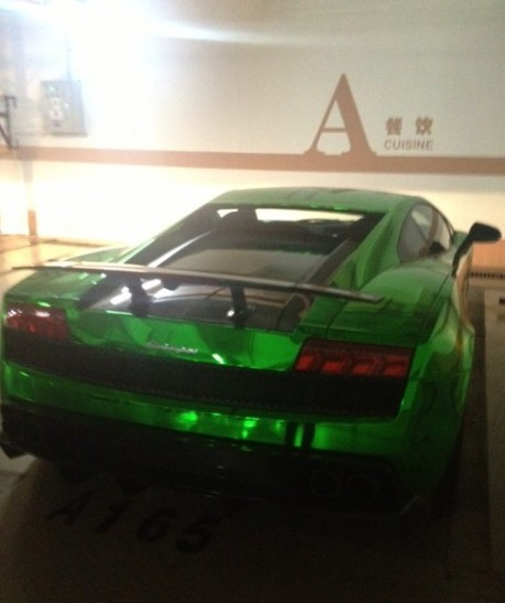 Bling! Lamborgini Gallardo Superleggera is Shiny Green in China