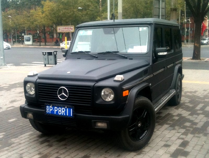 mercedes benz g500 is matte black in china