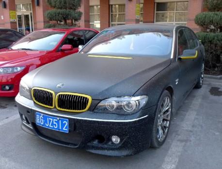 BMW 750 Li is matte black in China