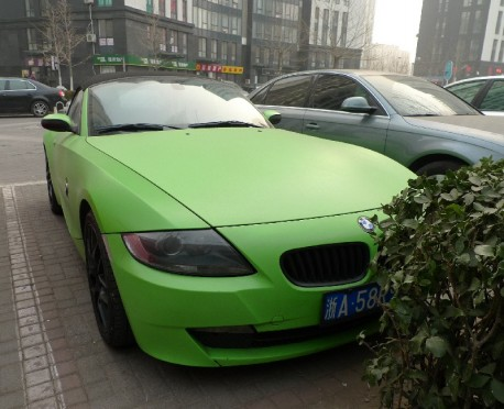 BMW Z4 is matte-lime green in China