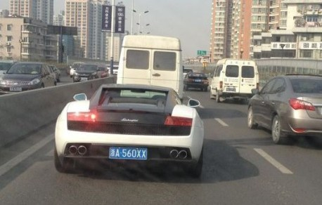 Lamborghini Gallardo LP 560-4 Bicolore has a License in China