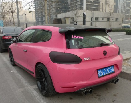 Volkswagen Scirocco is a Low Pink Rider in China