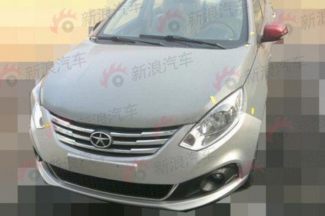 Spy Shots: JAC Heyue A30 sedan testing in China