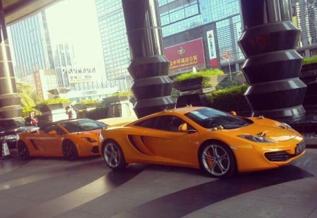 McLaren MP4-12C & Lamborghini Gallardo are Orange in China