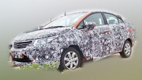 Spy Shots: Chery E2 sedan & hatchback testing in China
