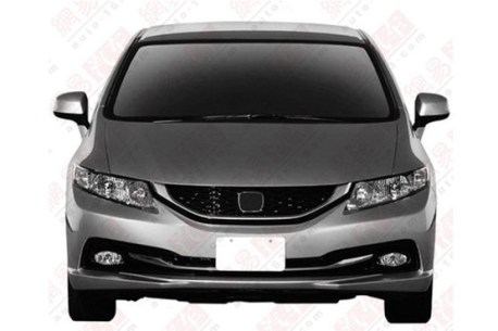Patent Applied: 2013 Honda Civic sedan will arrive in China soon