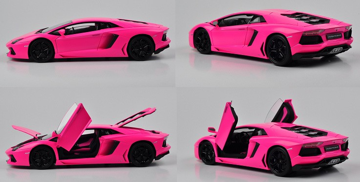 air vents all in black too for maximum contrast with pink only the exhaust pipes are in chrome great work - Lamborghini Black And Pink