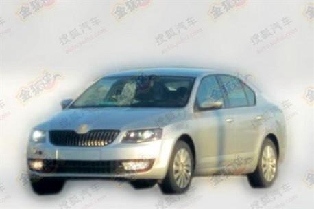 Spy Shots: new Skoda Octavia testing in China