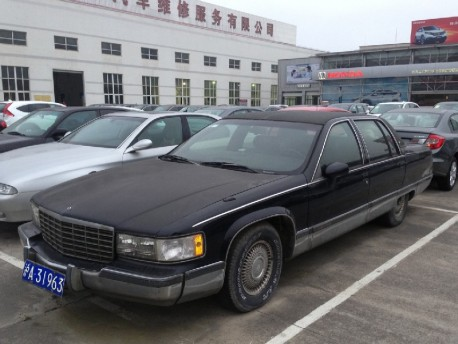 Spotted in China: Cadillac Fleetwood in Brown