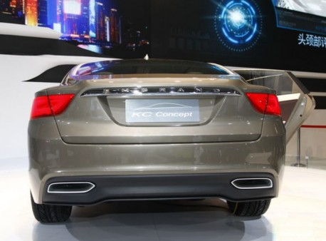 Another look at the Geely Emgrand KC concept on the Shanghai Auto Show