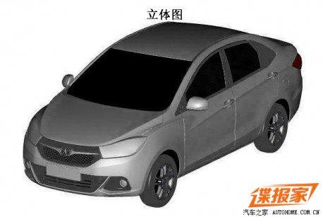 Patent Applied: JAC Heyue A20 for the Chinese car market