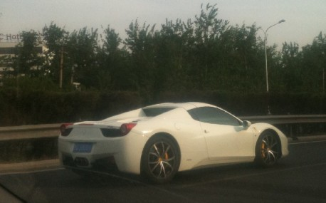 Ferrari 458 Spider at Full Speed in China