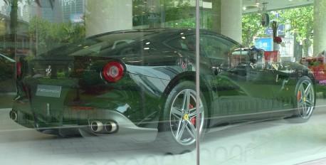 Ferrari F12berlinetta in Black in Shanghai, China