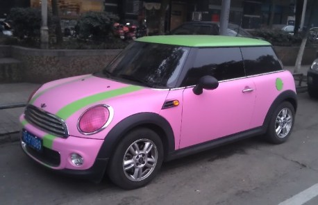 Mini One is pretty in Pink and some Green in China