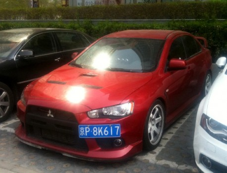 Mitsubishi EVO X is very Low in China