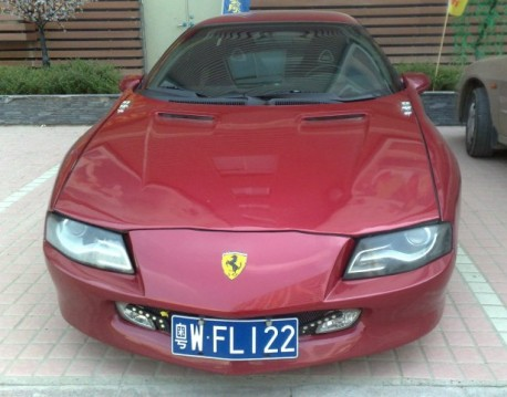 Pontiac Firebird is a Ferrari in China