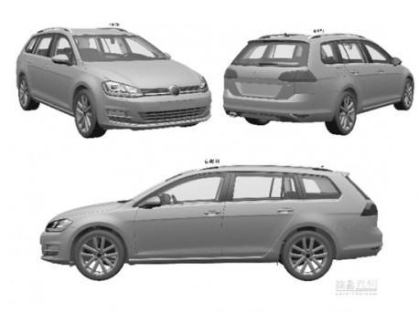 Patent Applied: Volkswagen Golf 7 Variant will come to China