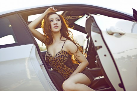 Redhead in China is hot with a Pimped BMW M3