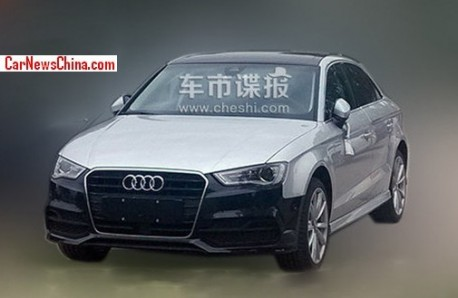 Spy Shots: Audi A3 sedan testing in China