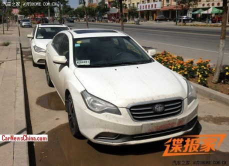 Spy Shots: facelifted FAW-Besturn B50 is Ready for the China car market