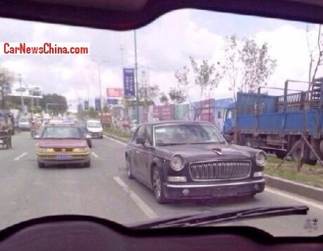 Spy Shots: Hongqi L5 seen on the Road near the Factory in China