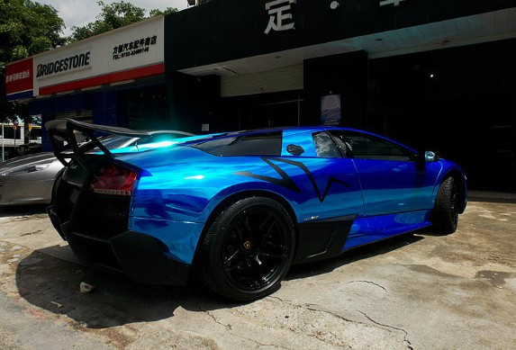 this machine will eat the sun if it is out for too long we continue black sv stickers black wing at the back and best of all a black fuel cab - Lamborghini Black And Blue