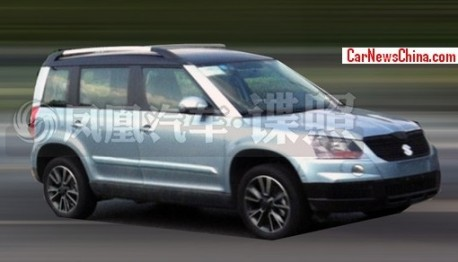 Spy Shots: stretched Skoda Yeti seen testing in China