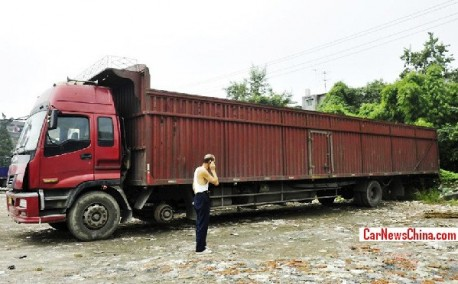 Truck in China is a bit too Long