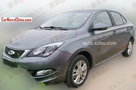 Spy Shots: Chery Arrizo 3 seen testing in China