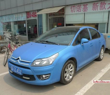 Citroen C-Quatre is matte blue in China