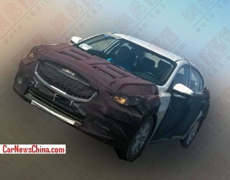 Spy Shots: Kia K4 testing in China