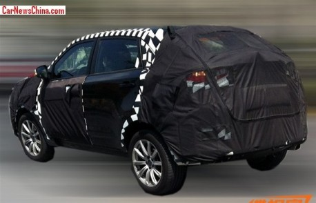 Spy Shots: MG CS SUV testing in China