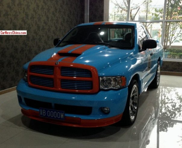 Spotted in China: Dodge RAM SRT-10 in Gulf Livery