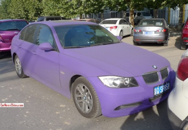 BMW 3-Series is matte purple in China