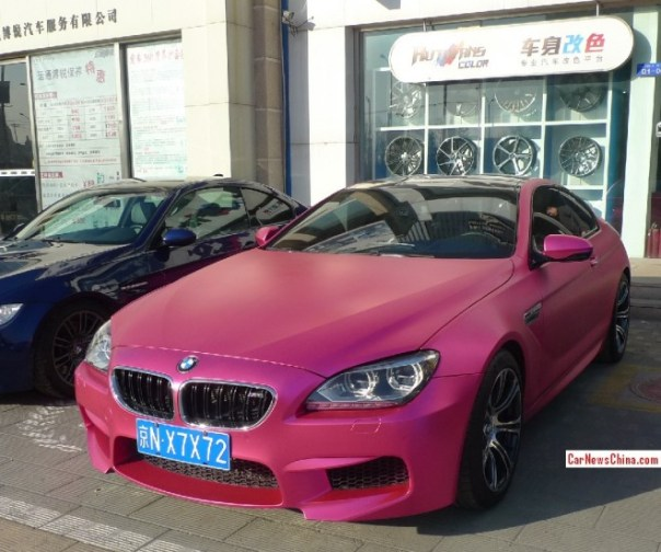 BMW M6 Coupe is Shiny Pink in China