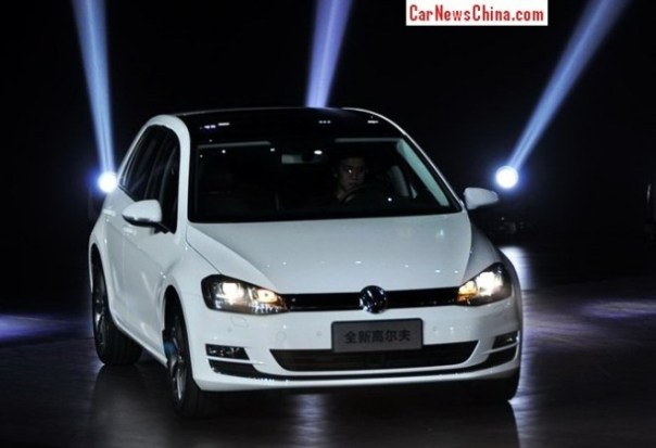 Volkswagen Golf 7 hits the China car market