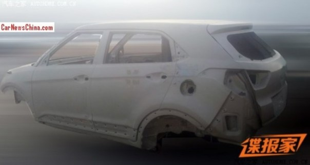 Spy Shots: the naked Body of the Hyundai ix25 in China