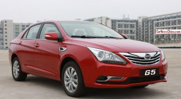 Spy Shots: BYD G5 sedan is Naked in China