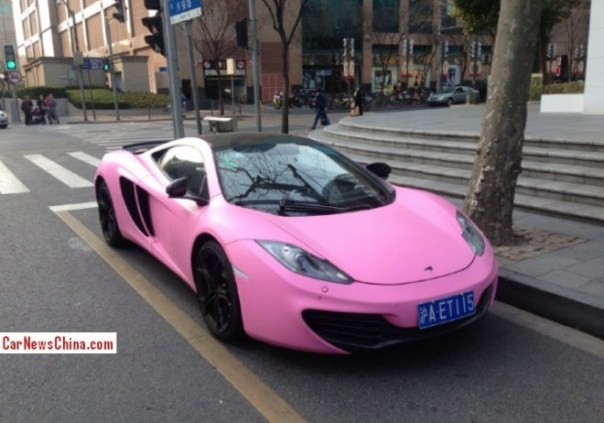 McLaren MP4-12C is Pink in China