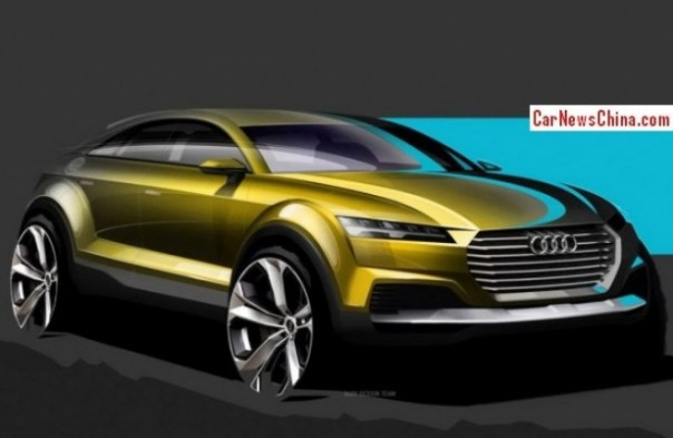Audi Q4 concept previewed before the 2014 Beijing Auto Show