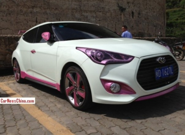 Hyundai Veloster has a bit of Pink in China